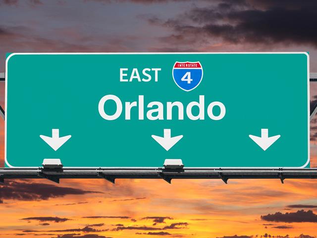 Orlando Florida Exit Sign